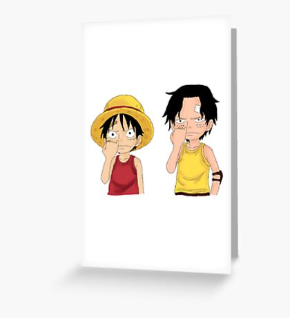 One Piece - Luffy & Ace Greeting Card