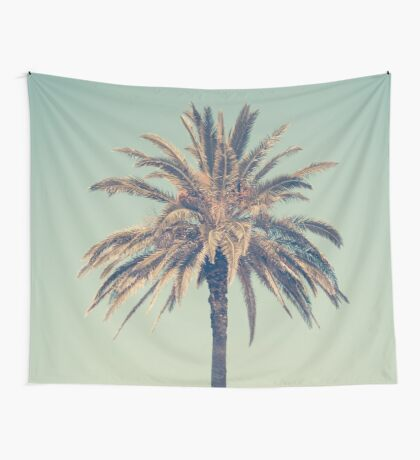 Retro palm tree Wall Tapestry
