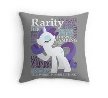 The Many Words of Rarity Throw Pillow