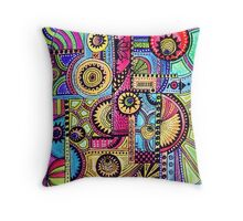 Abstract composition Throw Pillow