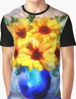 A vase of Sunflowers'... Graphic T-Shirt