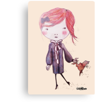 Pigeon 4 Dinner Canvas Print