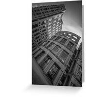 The Vancouver Public Library-Black and White Perspective #2 Greeting Card