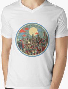 philadelphia panorama 3 Mens V-Neck T-Shirt