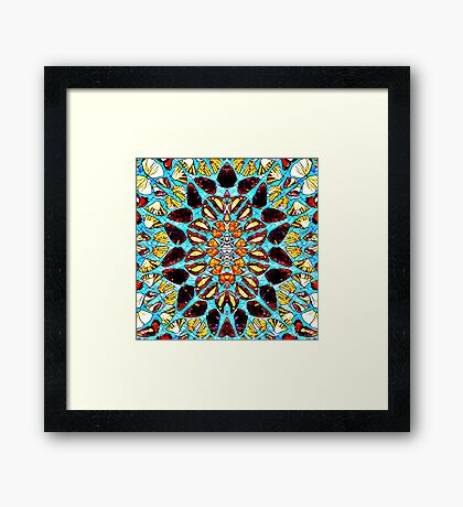 Butterfly mosaic Framed Print