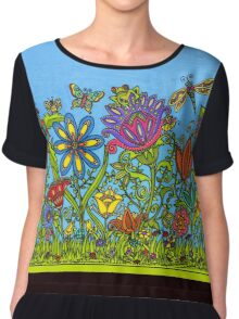 FLOWERS and FRIENDS Chiffon Top