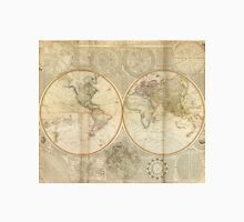 Vintage Map of The World (1799) 2 Unisex T-Shirt