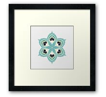 Black Hearts Framed Print