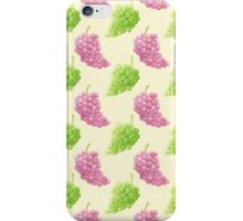 Green & Red Grapes Pattern Remix iPhone Case/Skin