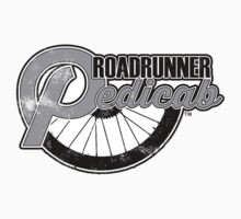 Roadrunner Pedicab, Grunge Gray Kids Clothes