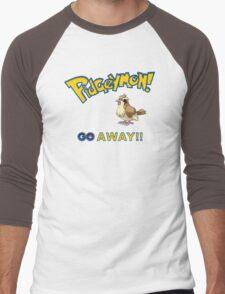 Pidgeymon GO Away!! Men's Baseball ¾ T-Shirt