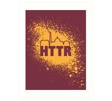 Redskins - HTTR, DC Skyline on Spray Art Print