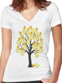 A Pineapple Tree Women's Fitted V-Neck T-Shirt