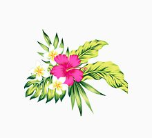 Hot Pink Hibiscus & Tropical Flowers Unisex T-Shirt