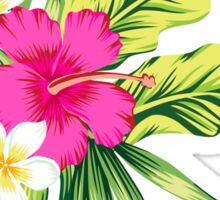 Hot Pink Hibiscus & Tropical Flowers Sticker