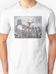 Space Pirate Ship - Sleeping Giant T-Shirt