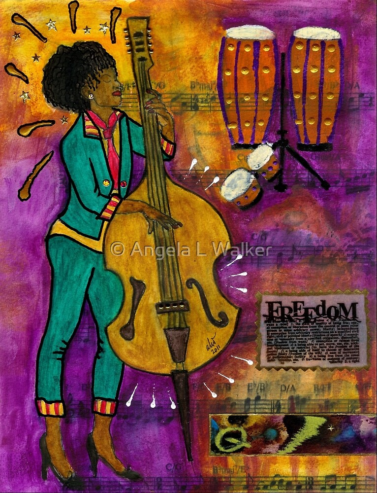 That Sistah on the Bass by © Angela L Walker