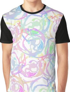 Colorful Watercolor Brushstroke Abstract Circles Graphic T-Shirt