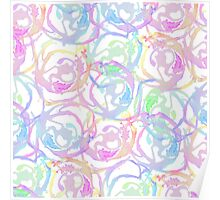 Colorful Watercolor Brushstroke Abstract Circles Poster