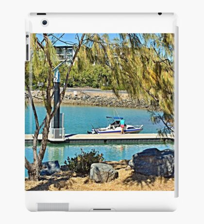 Rosslyn Bay boat ramp Wharf. iPad Case/Skin