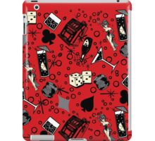 Viva Vegas Retro Casino Print - Red, Black and Gray iPad Case/Skin