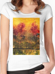 In A Land Far Away Women's Fitted Scoop T-Shirt