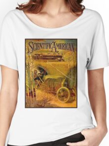 """SCIENTIFIC AMERICA"" Vintage Grand Prix Advertising Print Women's Relaxed Fit T-Shirt"