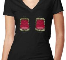 Eldritch Mouths Women's Fitted V-Neck T-Shirt