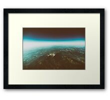 Earth Horizon Photo From 35.000 Feet Altitude Framed Print