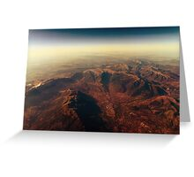 Earth Horizon Photo From 35.000 Feet Altitude Greeting Card