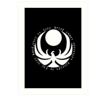 The Nightingales Symbol - Daedric writings Art Print