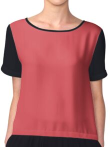 Cayenne Pepper (Red) Color Chiffon Top