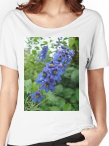 Nature, USA, Alaska, Flower, blue Women's Relaxed Fit T-Shirt