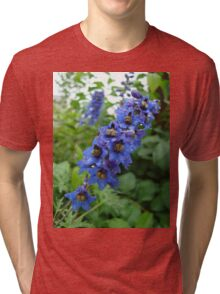 Nature, USA, Alaska, Flower, blue Tri-blend T-Shirt