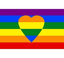 Rainbow heart Photographic Print