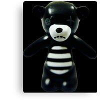 Goth Teddy Bear! Canvas Print