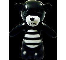 Goth Teddy Bear! Photographic Print