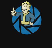 The Aperture Boy - Gamemix : Portal and Fallout - Black Unisex T-Shirt