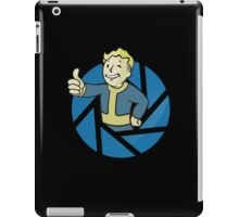 The Aperture Boy - Gamemix : Portal and Fallout - Black iPad Case/Skin