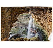 Cavern Cascade at Watkins Glen Poster