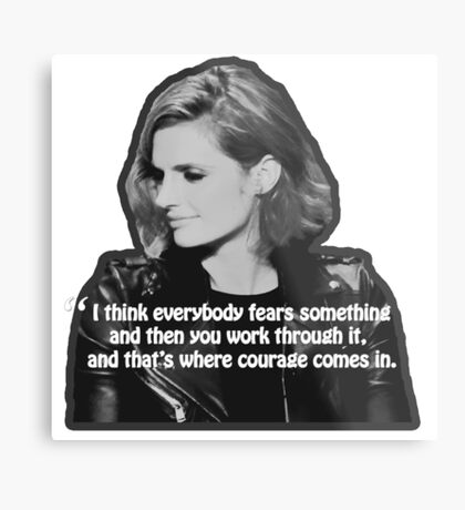 STANA KATIC, QUOTE Metal Print