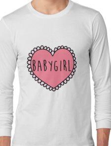 Babygirl in a Heart Long Sleeve T-Shirt