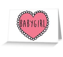 Babygirl in a Heart Greeting Card