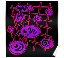 Purple and red abstraction Poster