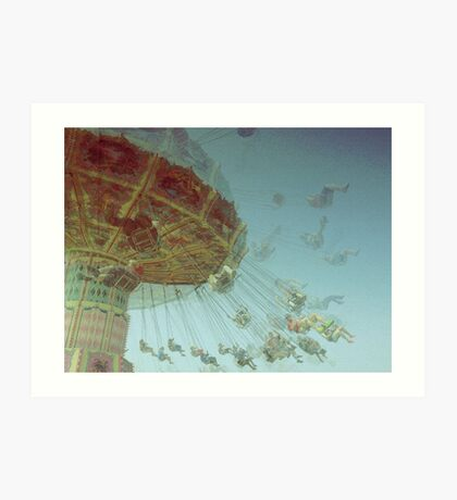 Fair in Motion: Swing Chairs Art Print