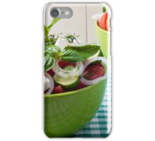 Vegetable vegetarian salad with raw tomato and cucumber iPhone Case/Skin