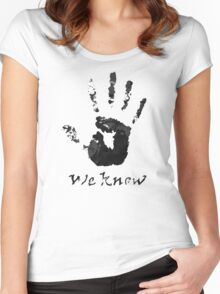 We Know - Dark Brotherhood Women's Fitted Scoop T-Shirt