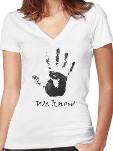 We Know - Dark Brotherhood Women's Fitted V-Neck T-Shirt