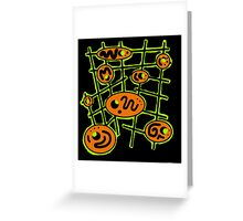 Orange and green abstraction Greeting Card