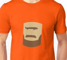 bearded face drawing Unisex T-Shirt
